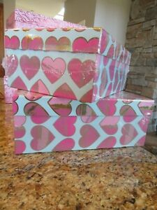 Recollections Keepsake Storage Shoe Photo LOVE/HEARTS/VALENTINE Design Box