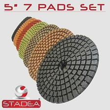 "5"" Pro DIAMOND POLISHING PAD GRANITE CONCRETE GLASS SET"
