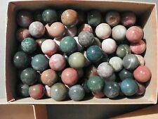 Agate And Or Jasper Marbles  3 Of 7/8 Inch To 1 Inch Natural Gemstones