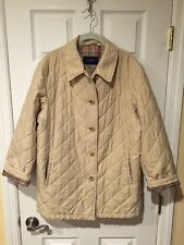 Burberry Quilted Jacket Size 36 Authentic Women's Coat Brit London