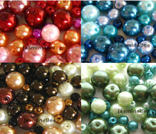 Glass Faux Pearls Loose Beads Round 4/6/8mm*120+pcs