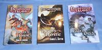 Pathfinder Tales, Pirate's Honor, Death's Heretic, Liar's Blade, 3 Book Lot!