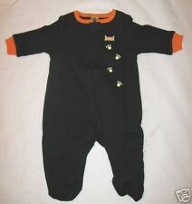 Halloween Infants Glow In The Dark Costume 0-3 M Month Baby Newborn Black Sleep!