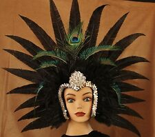 Hand Crafted Feather Mask (MH002)