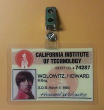 The Big Bang Theory ID Badge- Howard Wolowitz M. Eng. prop costume cosplay