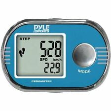 Pyle Blue Pedometer Step Timer Distance Speed Stopwatch Clock USA Seller