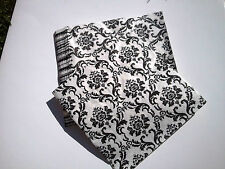 200pcs x Serviette Damask Black White Vintage Napkin Retro Chic Glamour 10pks
