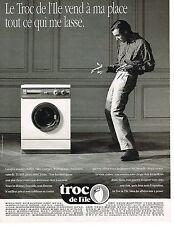 PUBLICITE ADVERTISING 054  1990  MAGASIN TROC DE L'ILE   vend tout à ma place 2