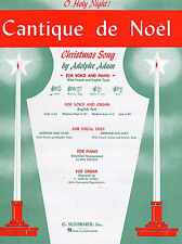 Cantique De Noel O Holy Night for High Voice In E Flat. Learn Vocal Music Book