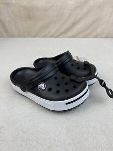 Toddler Crocs Crocband Black/White size 8-9 D Clogs slip-on shoes