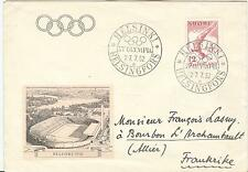 Finland Olympische Spiele Olympic Games 1952 cover Olympic Rowing R cancel