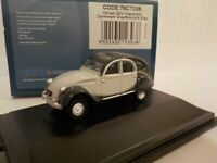 Model Car, Citroen 2Cv, Grey, Black, 1/76 New