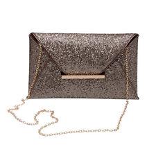 Women Glitter Sequins Handbag Envelope Evening Party Clutch Bag Purse Wallet