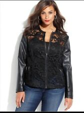 INC  International Concepts Lace Jacket Size Medium- Black