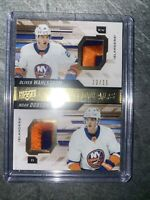2019-20 Premier Oliver Wahlstrom & Noah Dobson DUAL JERSEY 12/15 Rookie Patch
