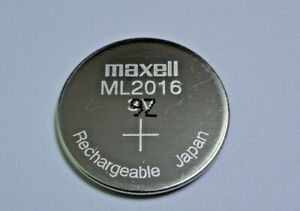 Maxell ML2016 2016 Rechargeable Coin Cell Battery 3V Japan Manufactured Dec 2019