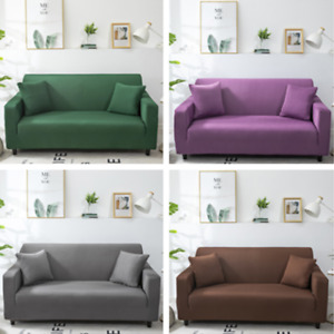 Soild  Sofa Covers 1-4 Seater Slipcover Living Room Stretch Furniture Protector