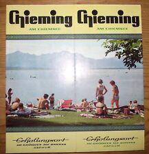 Prospekt Broschüre Verkehrsamt Reise Urlaub CHIEMING Traunstein Bayern um 1970