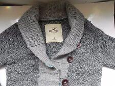 Hollister~Gray Heavy Cardigan Sweater Jacket size Medium