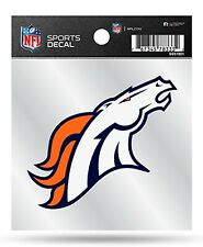 Denver Broncos Premium 4x4 Decal with Clear Backing Auto Home Sticker Football