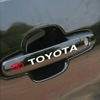 A Pair Amazing Car Handle Sticker Decal Graphics Vinyl For Toyota (White)