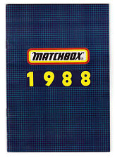 KATALOG/CATALOGUE MATCHBOX FAHRZEUGE 1988, Deutsch+++sehr gut/lvery good !