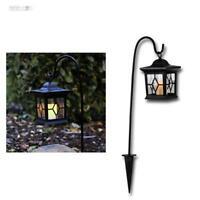 LED Solar-Laterne mit Dämmerungsautomatik, Solar-Leuchte Gartenleuchte mit Kerze