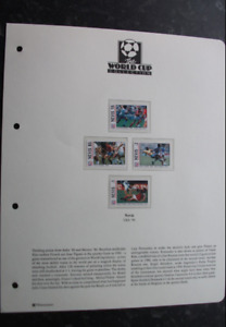 THE WORLD CUP COLLECTION - USA '94 - NEVIS STAMPS - 4 DIFFERENT FOOTBALLERS