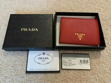 Prada Red Small Safiano Leather Wallet