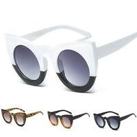 Women Fashion Retro Oversized Cat Eye Designer Sunglasses Mirror Glasses Eyewear