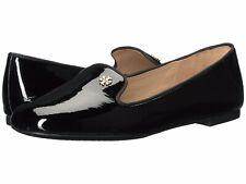 Tory Burch NIB $295 SAMANTHA Smoking Slipper Loafer Black Patent Leather Sz 10