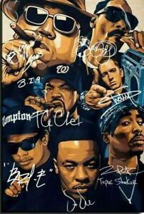Biggy Dre Snoop Ice Cube Eminem Tupac Rap Legends 24 x 36 High Quality Poster