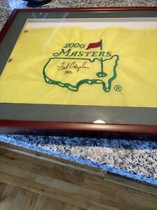 Professionally Framed Fred Couples 2000 Masters Flag