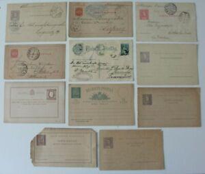 Portugal 1890 Lisbon 1891 Liegnitz 1904 Aschau Prien Postal Stationery Card x 11