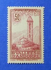 1932 ANDORRA FRENCH 50c SCOTT# 37 MICHEL # 35 UNUSED                     CS26347
