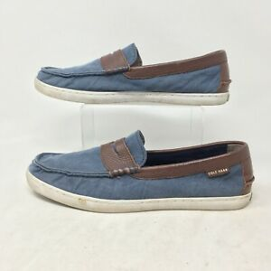 Cole Haan Pinch Grand Os Weekender Nantucket Loafers Casual Shoes Blue Mens 11 M