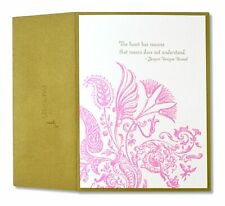 GORGEOUS NEW SEALED PAPYRUS Love Anniversary Floral Letterpress Card I LOVE YOU