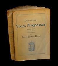 [ESPANA FILOLOGIA ZARAGOZA] BORAO - Diccionario de voces aragonesas.