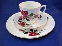 VINTAGE ROYAL KENT TEA CUP, SAUCER AND SANDWICH PLATE - STAFFORDSHIRE ENGLAND