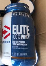 Dymatize Elite 100% Whey Protein Powder Rich Chocolate 32 Oz Exp. 12/20