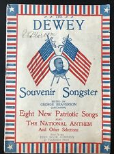 RARE The Dewey Souvenir Songster George Beaverson 1899 Patriotic Songs/Admiral