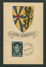 BELGIEN MK 1945 FLANDERN OOST-VLAANDEREN MAXIMUMKARTE MAXIMUM CARD MC CM d7099