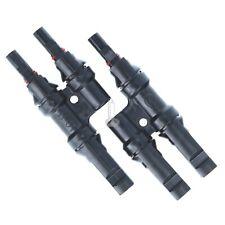 MC4 Stecker Solar Parallel Verbindungsstecker Buchse Solarkabel 4-6mm 30A 2Fach