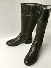 Boden Green Genuine Patent Leather And Suede Boots 42