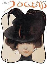 Magazine Jugend Allemagne Femme Chapeau Art Poster Print lv2012