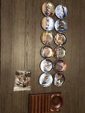 Danbury Mint Wild Wing Horses For All Seasons Calendar Plates Complete + Holder