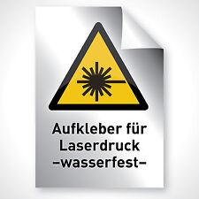 3x Bogen Silber Druck Aufkleber Folie Wand Text Beschriftung Laserdrucker DIN A3