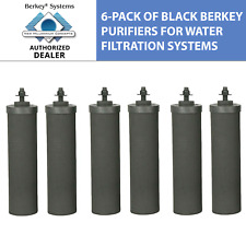 6 Black Berkey Replacement Water Filters Travel Big Royal Imperial Crown Light