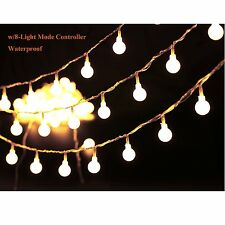 G40 Globes 100LED Fairy Twinkle String Light Outdoor Warm White Lights 8Mode
