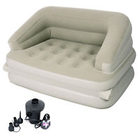 JILONG INFLATABLE 5 in 1 MULTI FUNCTIONAL SOFA AIR BED MATTRESS + ELECTRIC PUMP